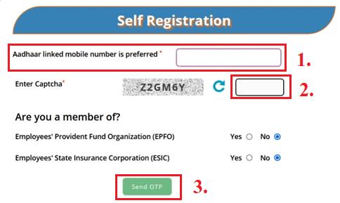 e shram card online registration